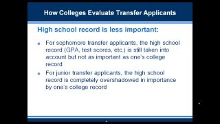 Download Three Tips for College Transfer Applicants Video