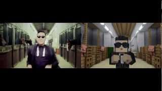 Download GANGNAM STYLE VS MINECRAFT STYLE Video