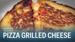 Download How to make pizza grilled cheese Video