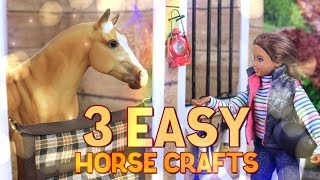 Download DIY - How to Make: 3 EASY Horse Crafts | Stall Guard | Mesh Hay Net | Track Rack Video