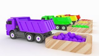 Download LEARN COLORS TRUCK CARS & Ball - Car For Kids 3D & Learn colors for children Colours for Kids Video