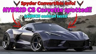 Download HYBRID C8 Corvette caught TESTING! Spyder convertible coming VERY soon! C8 LAUNCH control SHOWN OFF! Video