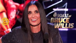 Download Demi Moore Spills on Life in the Moore-Willis Household - Roast of Bruce Willis - Uncensored Video