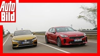 Download VW Arteon vs Kia Stinger (Goldenes Lenkrad 2017) Test/Review/Details Video