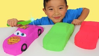 Download DIY Kinetic Sand Disney Cars 3 Toys And Cutting Lightning McQueen Up With Ckn Toys Video