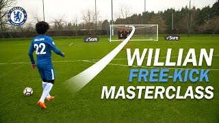 Download Willian's Free-Kick Masterclass! | How To Take the PERFECT Free-Kick with Sure Video