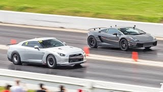 Download 1600hp Nissan GT-R BATTLES 2000+hp LAMBO! Video