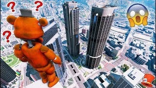 Download GUESS IF FREDDY WILL JUMP OFF THE TALLEST SKYSCRAPER! (GTA 5 Mods For Kids FNAF RedHatter) Video