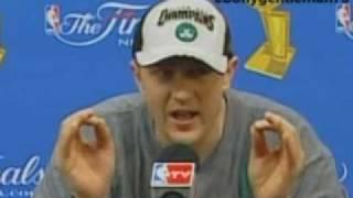 Download Celtics Brian Scalabrine talks trash after NBA Title Win Video