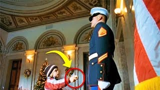 Download Boy Gives Marine A Secret Note, And Suddenly He Calls For Backup Video