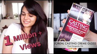 Download How to Color Your Hair at Home - Loreal Casting Creme Gloss Plum/Burgandy 316 Video