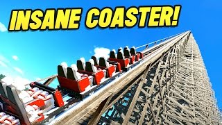 Download WORLDS BIGGEST WOODEN COASTER!! (Planet Coaster Beta) Video