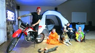 Download CRAZY INDOOR CAMPOUT!! Video