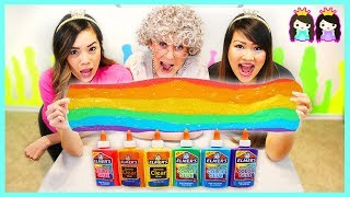 Download Mixing All My Slimes at slime school! DIY Satisfying Rainbow Slime! Video