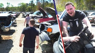 Download Pulling Parts In An American Junkyard Is The Ultimate Day Out Video