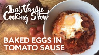 Download BAKED EGGS IN TOMATO SAUCE 🍳 | That Vanlife Cooking Show Video