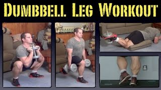 Download Home Leg Workout with Dumbbells Video