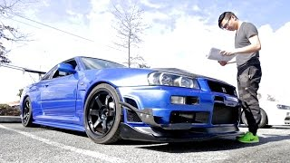 Download My Friend Imported Three Skyline R34 GTRs! Video