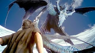 Download FINAL FANTASY XV NEW Gameplay Giant Monster Boss Battle (PS4 Pro) Video