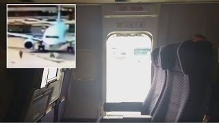 Download Passengers Shocked When Woman Jumps Out of Plane Taxiing Video