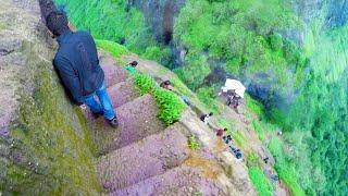Download Dangerously Steep Trekking Steps In India Video