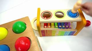 Download Preschool Toys Teach Colors and Counting for kids! Genevieve Joins the Ball Pounding Fun! Video