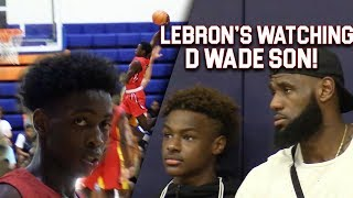 Download LeBron & Bronny WATCH Zaire Wade! INSANE POSTER & GAMEWINNER inFront of Dwyane Wade Video