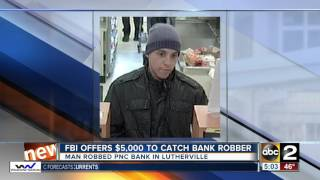 Download FBI offers $5K to catch bank robber in Lutherville Video
