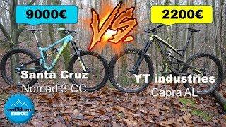 Download [VTT Enduro] YT Capra Al ⚡️ Santa Cruz Nomad CC ! Plus chère = plus rapide ? [enDHuro Battle] Video