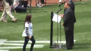 Download Charice Pempengco sings the National Anthem at Dodgers Opening Day 2009! Video