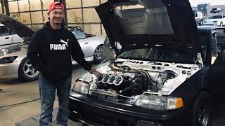 Download Phong's All Motor Crx project hits the Dyno! (Headphone users turn it down he isn't messing around) Video