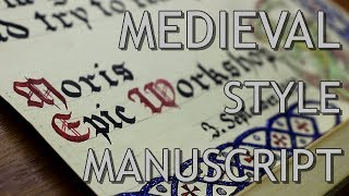 Download Medieval Style Manuscript - Making of Video