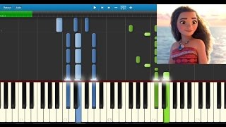 Download Vaiana (Moana) - Le bleu lumière - Karaoke / Piano synthesia tutorial (+ lyrics & Sheet music) Video