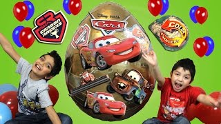 Download Disney Cars Biggest Ever Giant Golden Surprise Egg Opening Video by Hitzh Toys Video