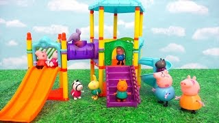 Download Peppa Pig at the Park ! Toys and Dolls Fun with Peppa and Friends Playing in the Playground | SWTAD Video
