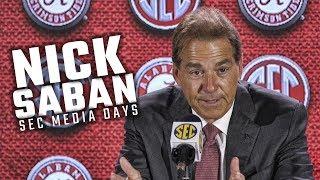 Download Hear what Nick Saban had to say at SEC Media Days 2018 Video