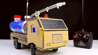 Download How to make RC Fire Truck from Pepsi cans and Cardboard - Diy Remote control car at home Video