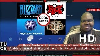 Download PSN Down on PS3, PS4, PS Vita DDOS Attack Blizzard, League of Legends & Path of Exile also Attacked Video