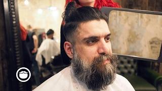 Download Long Hair Viking Cut at Barbershop | Cut and Grind Video
