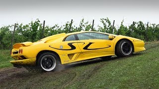 Download Supercars Getting Stuck in the Mud! Video