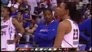 Download LA Sparks vs Detroit Shock - WNBA - Entire Fight - Candace Parker & Plenette Pierson Video