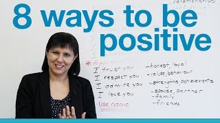 Download Speaking English - 8 ways to be positive & encourage others Video