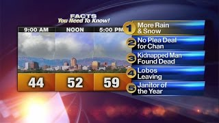 Download Wednesday's Morning Rush Video, 5 Facts: Storm system moves out of New Mexico Video