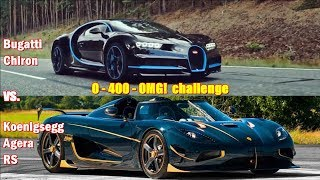 Download 1360hp Koenigsegg Agera destroys 1500hp Bugatti Chiron in 0-400-0 challenge!!! Video