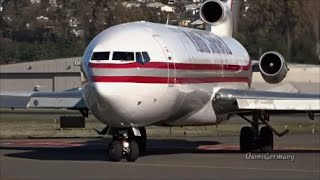 Download Kalitta Air Charters Boeing 727 Powers Up Out of Seattle @ KBFI Video