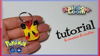 Download Pikachu POKEMON GO con Elastici RAINBOW LOOM - DIY Charm Tutorial Video