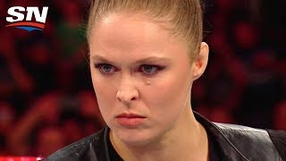 Download Ronda Rousey Laying Waste to WWE Security and Renee Young's Announcing Debut   Aftermath Video