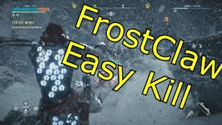 Download Horizon Zero Dawn - Frozen Wilds - FROST CLAW(BEAR) EASY KILL (Hard Mode, Bow Only) Video