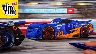 Download How-to-draw CARS 3 Danny Swervez vs Jackson Storm in Florida 500 Race | Art Color Video