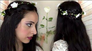 Download Corona di trecce a capelli sciolti per la primavera Video